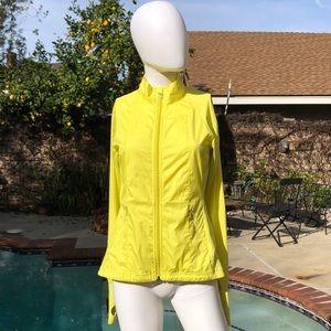 Alo Yoga Neon Yellow Zip Up Jacket Sz Petite